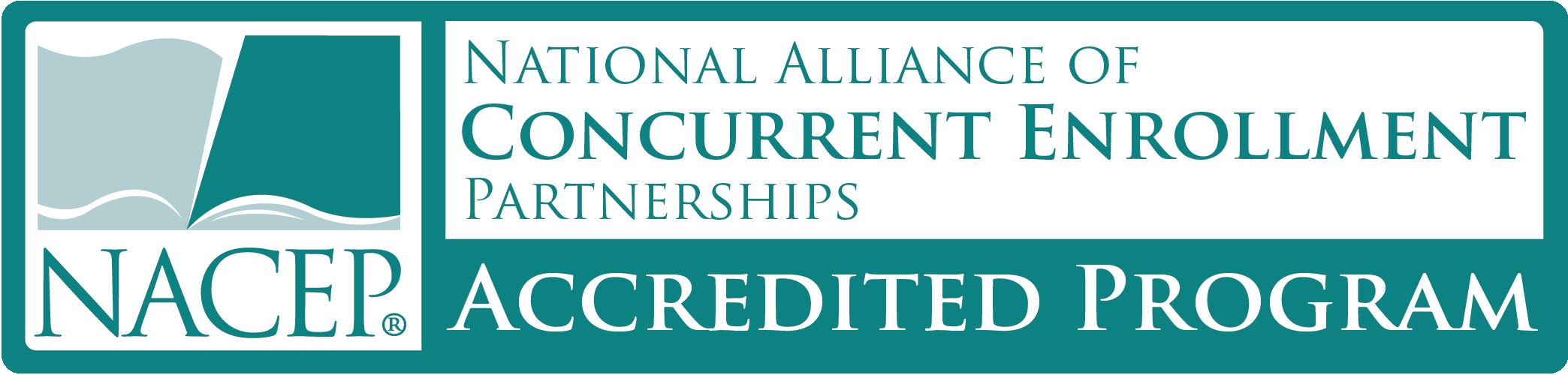NACEP accredited program logo image